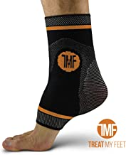 Ankle Compression Brace with Silicone Ankle Support and Anti-Microbial Copper. Plantar..