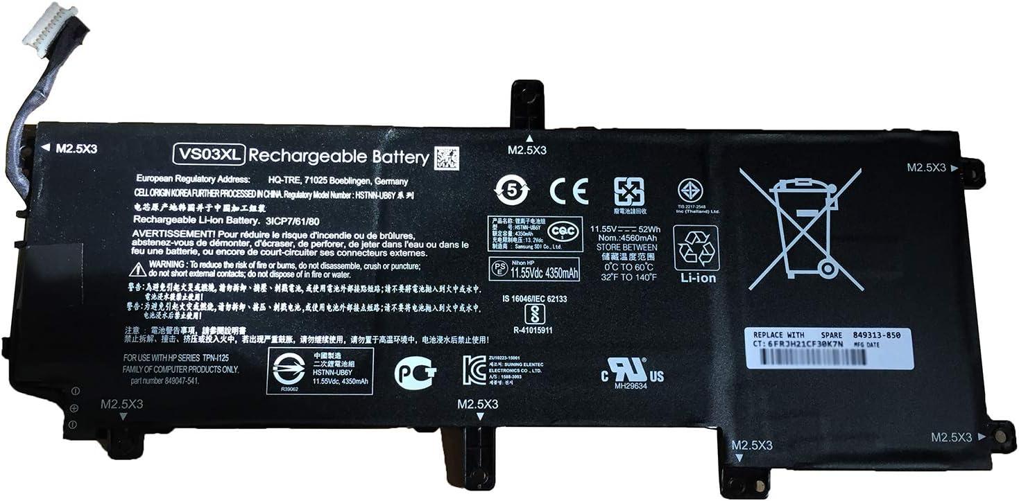 Dentsing VS03XL shipfree 11.55V 52Wh Spasm price 4350mAh HSTNN-UB6Y Laptop 6-Cell Bat