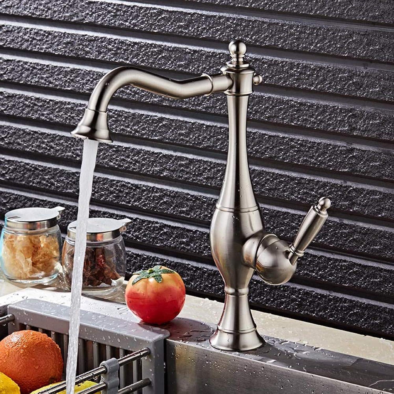 Waschtischarmatur Nickel 360-Grad-Gold-Küchenhahn Waschbecken Wasserhahn Mit Plumping Luxus Wasserhahn Becken Wasserhahn