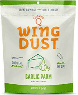 Kosmos Q Garlic Parmesan Wing Dust | Chicken Wing Seasoning | Dry BBQ Rub Spice | 5 oz. Bag