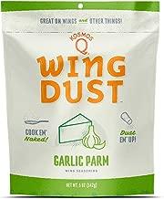 Kosmos Q Garlic Parmesan Wing Dust   Chicken Wing Seasoning   Dry BBQ Rub Spice   5 oz. Bag