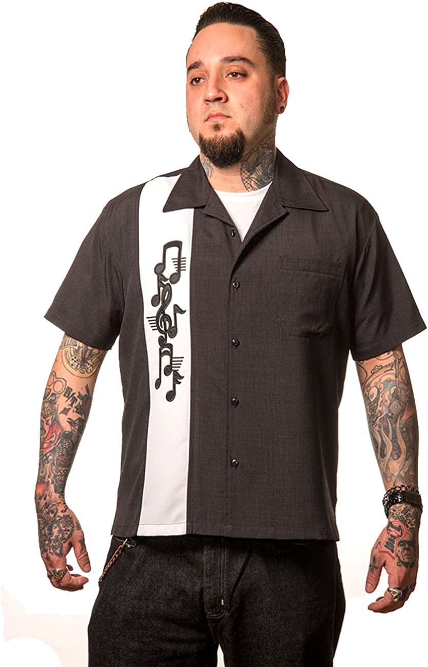 Steady Clothing - Camisa de bolos para hombre, estilo vintage ...