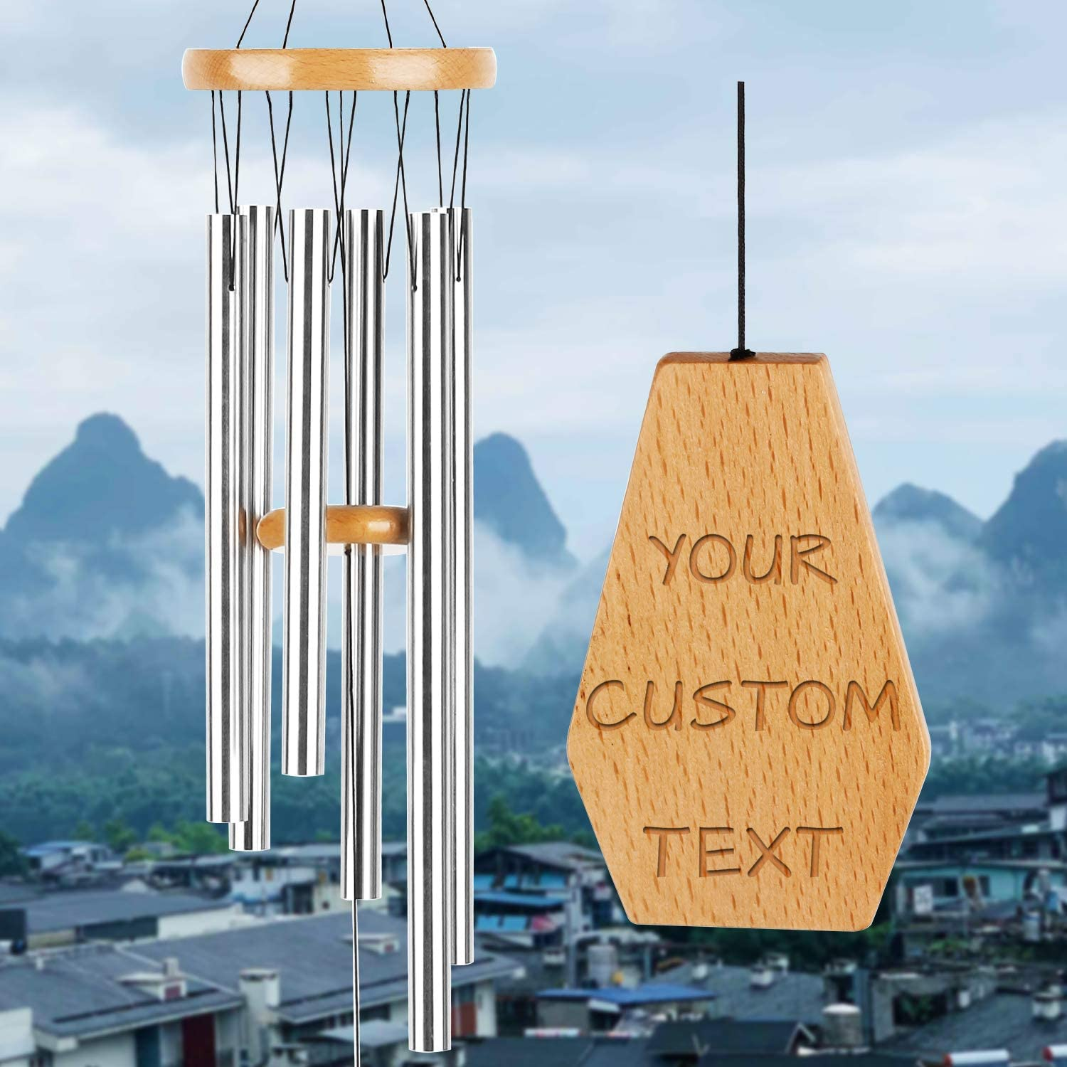 kullder Custom Wind Chimes W High quality Memorial Personalized Classic