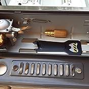 Barbacoa Portátil a cartucho BUTSIR B-250 y botellas de butano comercial, negro, 44.5x33x30 cm