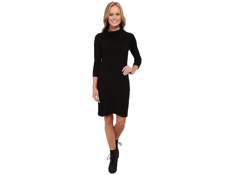 Royal Robbins Galaxy Cowl Neck Dress (Jet Black) Women