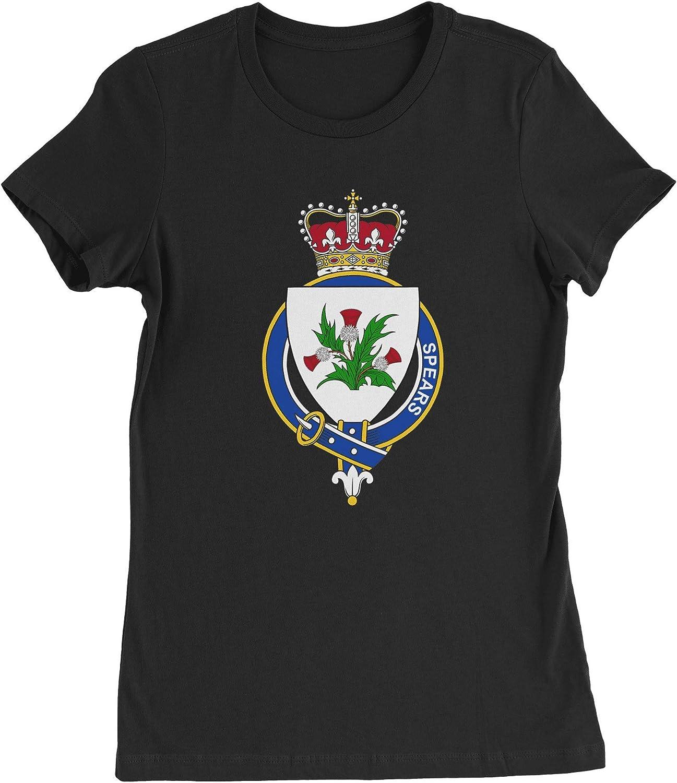 HARD EDGE DESIGN Women's Scottish Garter Family Spears T-Shirt