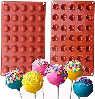 Royale Mesum 35-Cavity Round Silicone Mold,Semi Sphere Round Dome Fondant Mold Baking Mold for Making Chocolate, Cake, Jel...