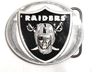 OAKLAND RAIDERS COMMEMORATIVE Pro NFL PEWTER BELT BUCKLE; MADE IN USA