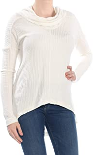 Womens Cowl Neck Lurex Thermal Top