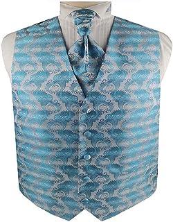 Men's Tuxedos Paisley Groomsman Waistcoat and Ascot Tie