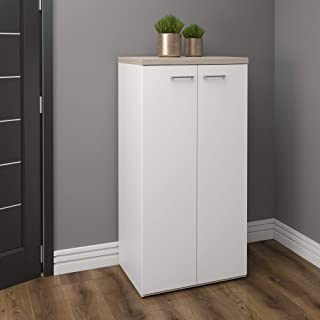Artany Toq 1400 High Cabinet with 2 Doors, Grigio/White
