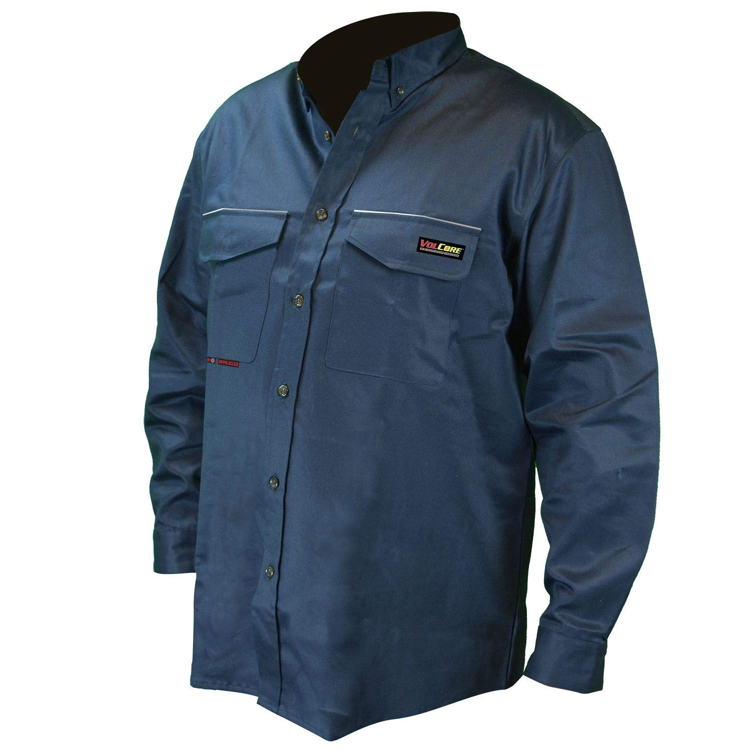 Radians FRS-001N-M Navy Long Sleeve Inventory cleanup selling sale Nylon Resistant Flame Shirt Max 66% OFF