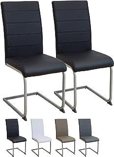 Albatros Silla Cantilever Murano Set de 2 sillas Negro, SGS Probado