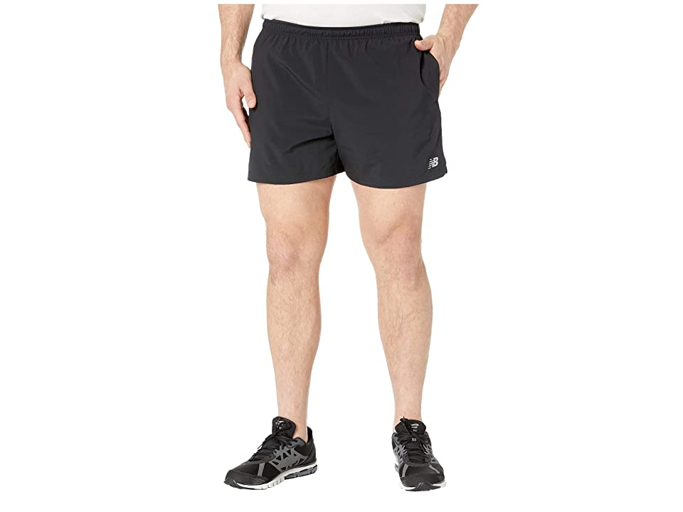 New Balance 5 Woven Shorts (Black) Men