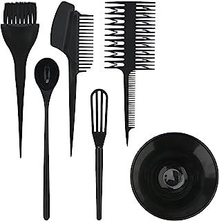 Segbeauty ヘアカラー用のセット ブラシとボウルの組み合わせ 6pcs DIY髪染め用 サロン 美髪師用 ヘアカラーの用具