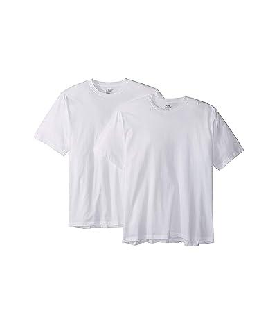 Jockey Breathable Mesh Cotton Classic Crew Neck T-Shirt 2-Pack (White) Men