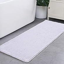 Noahas Bath Rugs 24'' x 70'' Large Runner Bathroom Rug, Soft Luxury Chenille Bathroom Mats with Non-Slip Backing, Throw Ab...