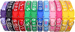 YOY 12/14 Pack Soft Nylon Puppy Whelping ID Collars - Adjustable Breakaway Litter Collars Baby Dog ID Bands Pet Identification for Breeders