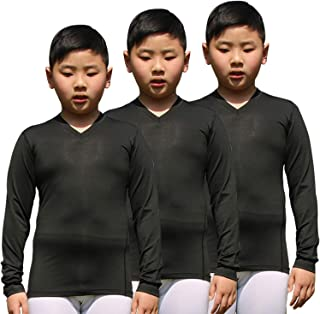 Boy's Long Sleeve Shirt Quick Dry Baselayer Compression Trianing Tops