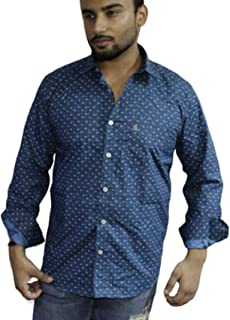 Spanish one Look Mens Long Sleeve 100% Cotton Regular Fit Button Down Casual Shirts Dress Shirt for Men