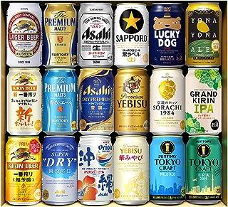 五大 国産プレミアムビール 飲み比べ ギフト 350ml 18本詰め合わせ 夢の競演 プレゼント 贈り物 ビールセット サッポロ サントリー アサヒ キリン クラフトビール IPA 長S