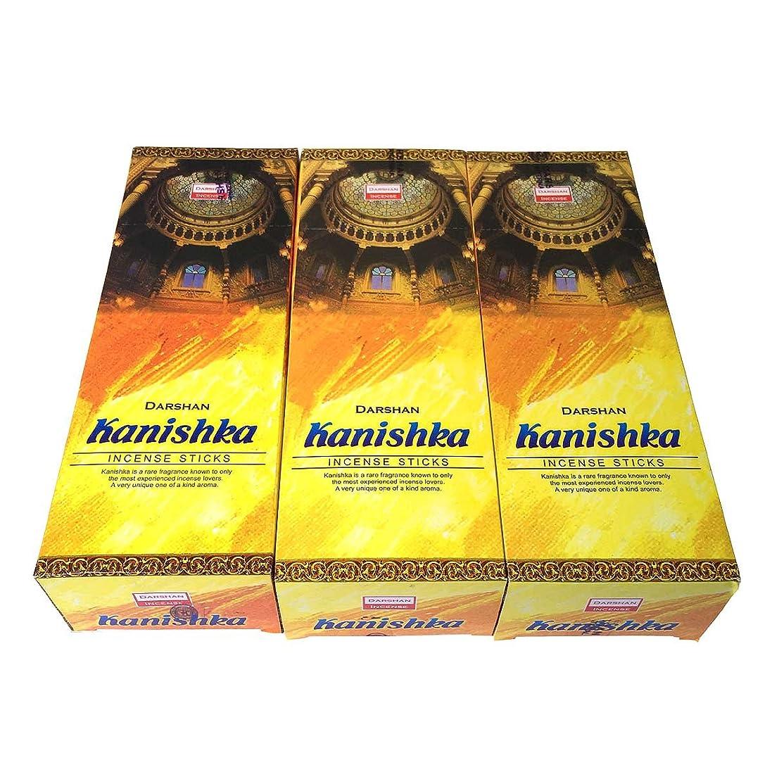 難しいドル薄いカニシュカ香スティック 3BOX(18箱) /DARSHAN KANISHKA/インセンス/インド香 お香 [並行輸入品]
