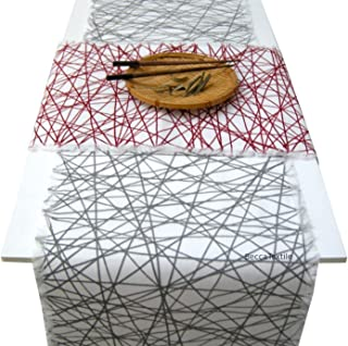 Camino de mesa de diseño geometrico,Manteles modernos, BeccaTextile.