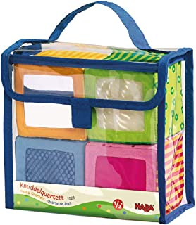 HABA Happy Quartett Soft Block Set Each with a Unique Sound for Ages 6 Months and Up