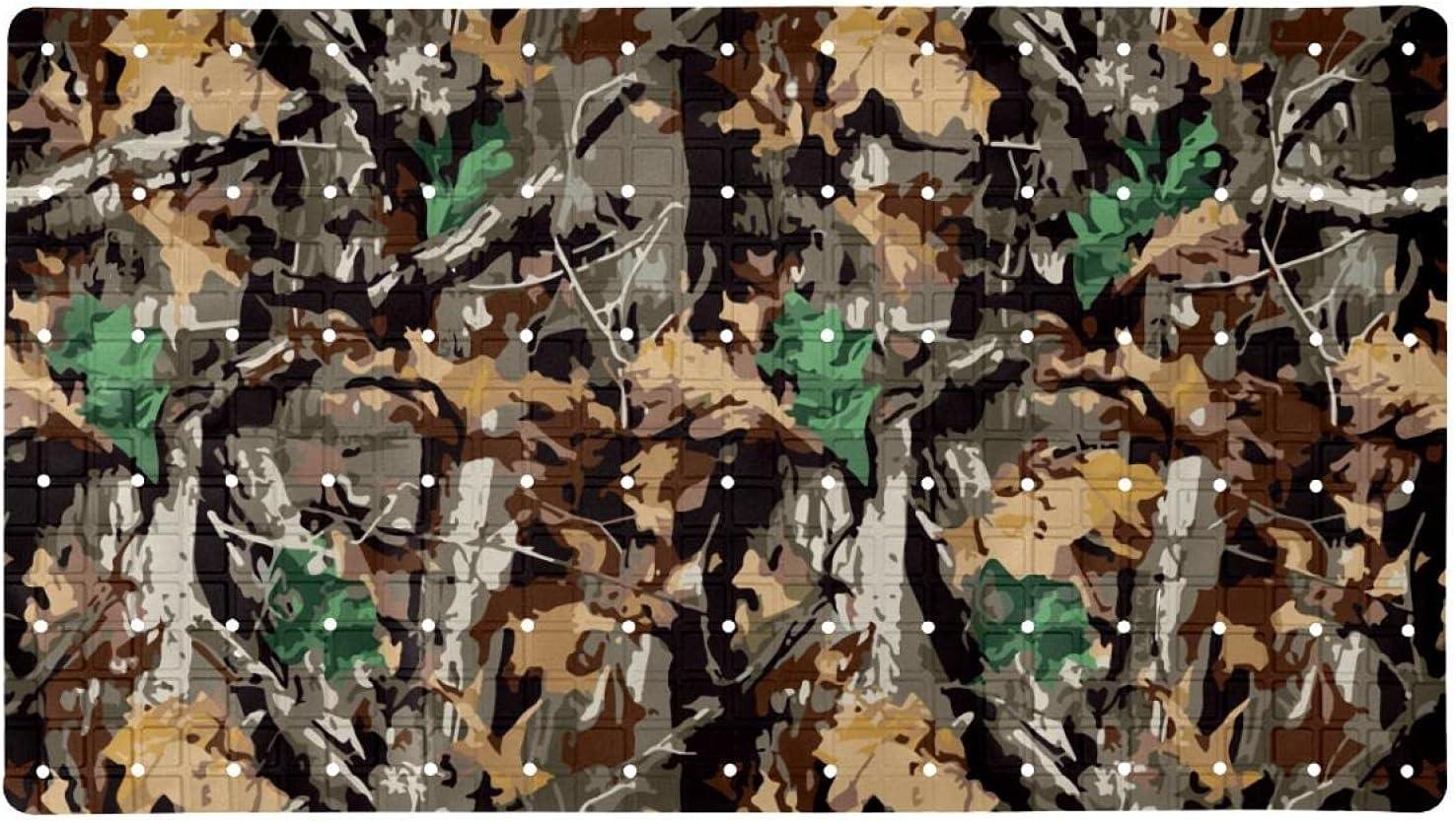 Bath Tub Shower Mat 15.7x27.9 Genuine Pattern Backgrou inches Camouflage Regular dealer