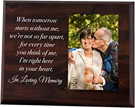 Elegant Signs Memorial Picture Frame - Keepsake Plaque That Holds a 4x6 Photo - Sympathy Gift to Tribute The Loss of a Lov...