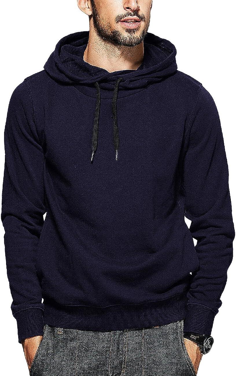 Yong Horse Mens Hoodies Fashion Sweatshirts Soft Drawstring Pullover Sweatshirt