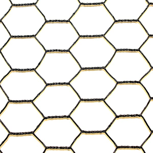 Steel Hex Web DE1522 Fence Black Vinyl Coated Galvanized Wire Animal Control 2 Ft X 150