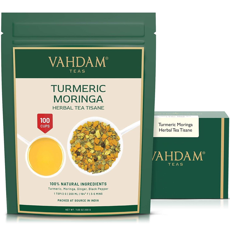 VAHDAM Turmeric Over item low-pricing handling + Moringa SUPERFOOD BLEND 100 Cups India's