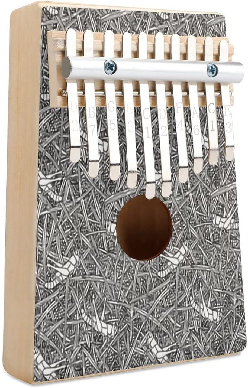 Grasshopper On Spring Save money new work Grass Texture Medium Kalimba 10 F Thumb Piano Key