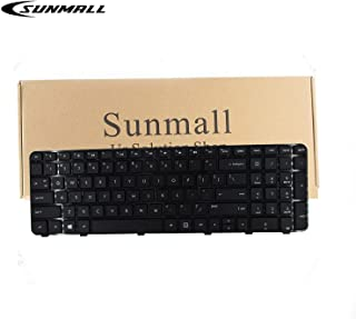 SUNMALL Keyboard Replacement with Frame Compatible with HP Pavilion DV6-6000 DV6-6100 DV6-6B00 DV6-6C00 DV6T-6000 DV6T-6100 DV6T-6200 DV6-6108US DV6-6114US DV6-6B26US DV6-6C10US Series Laptop US Layou