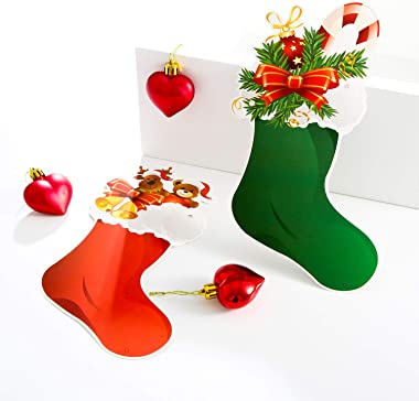 Jovitec 4 Strings Christmas Hanging Banners Paper Bunting Garlands Craft Ornaments for Offices, Malls, Houses and Parties