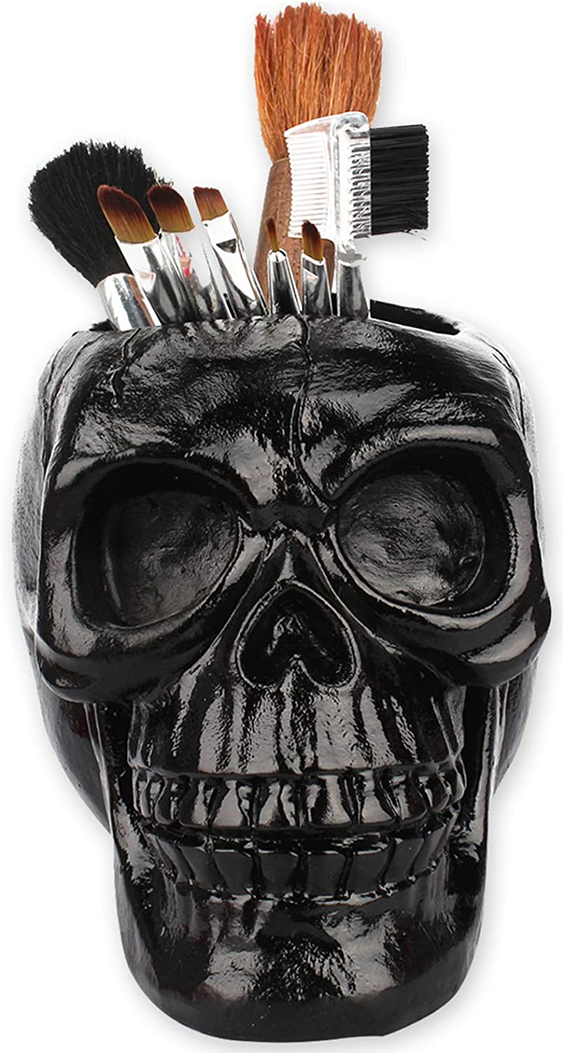 Clearance SALE! Limited time! Echolife All stores are sold Skull Pen Pencil Holder Cup Resin Makeup Brush Skeleton