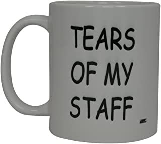 Best Funny Coffee Mug Tears Of My Staff Novelty Cup Joke Great Gag Gift Idea For Men Women Office Work Adult Humor Employee Boss Coworkers (Tears of My Staff)