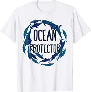 Ocean Protector Dolphins graphic - Environmental Message T-Shirt