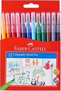 Faber-Castell PL551512 12-Piece Calligraphy Brush Pen Set