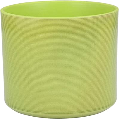 Sagebrook Home 12360-03 Ceramic Flower Pot, Green Ceramic, 9 x 9 x 7.75 Inches