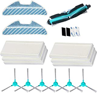 REYEE Pack de 19 Kit de Accesorios de Repuesto para Cecotec Conga Excellence 1290 Conga 1390 Robot Aspiradora, 6 Filtros + 6 Cepillos Laterales + 2 fregona ...