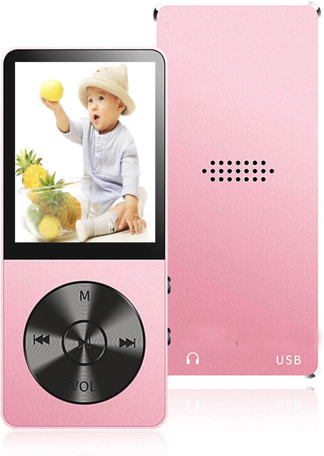 Voice Recorder FM Radio Supports up to 64GB Portable Music Player with Light Metal Video Play E-Book Reader MP3 Player Build-in Speaker 16GB MP3 Players with Hi-Fi Lossless Sound