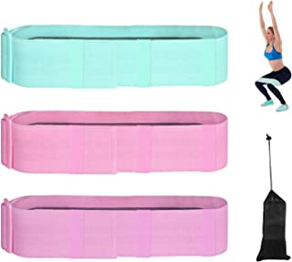 AOLVO Set of 3 Adjustable Non Slip Resistance Bands, Resistance Bands Set for Women Butt and Legs, Booty Bands Resistance ...
