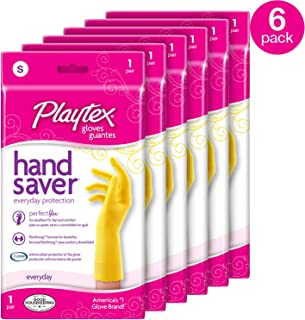 Playtex Handsaver Reusable Rubber Gloves ( Small , Pack - 6 )