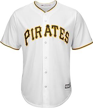 Majestic Camiseta Hombre Pittsburgh Pirates Replica Cool Base MLB Jersey Blanco 7700-PIRH-PTB-RJH