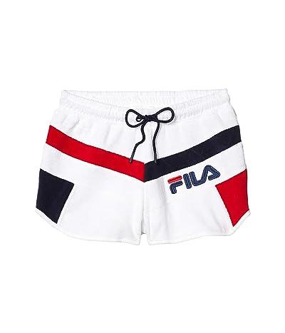 Fila Hazel Shorts (White/Peacoat/Chinese Red) Women