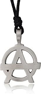 Anarchy Letter A Silver Pewter Charm Necklace Pendant Jewelry