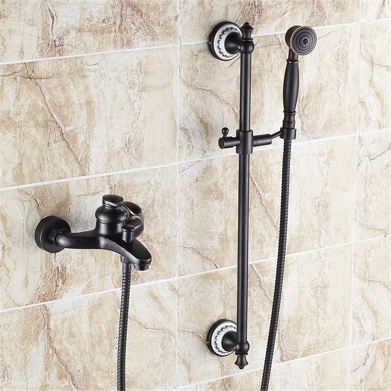 Gyps Faucet Waschtisch-Einhebelmischer Waschtischarmatur BadarmaturSchwarz Antik Messing - Dusche Wasserhahn Pack Kalt-und Warmwasser Mischventil in die Badewanne Armatur Ein,Mischbatterie Waschbec