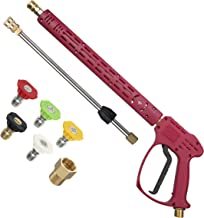 RIDGE WASHER Pressure Washer Gun with Extension Wand for Hot and Cold Water, Power Washer..